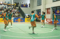 Circle Takraw, a modern form of Sepak Raga